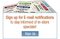Sign up for E-mail notifications